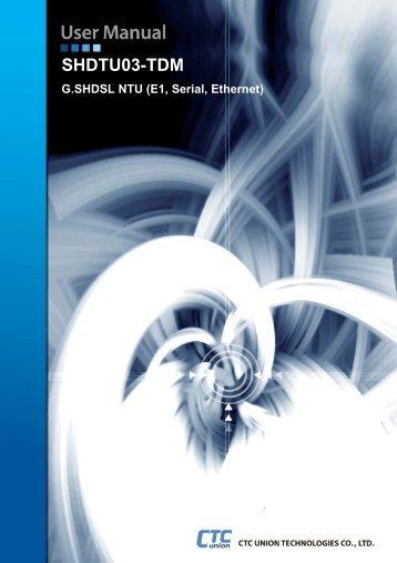 SHDTU03 TDM NTU Series User Manual