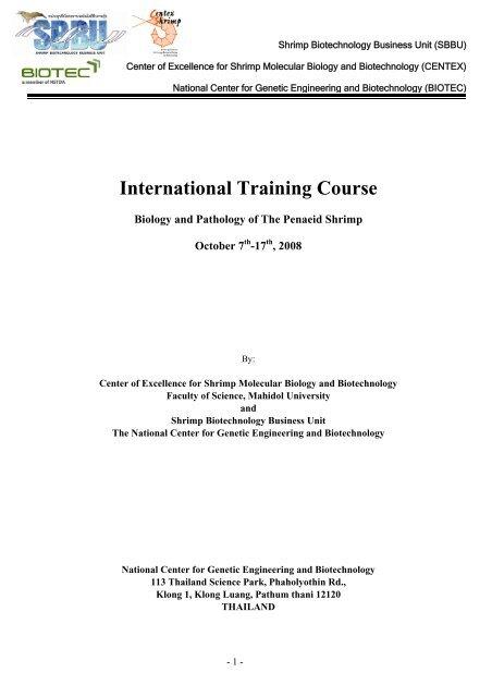 International Training Course - Mahidol University