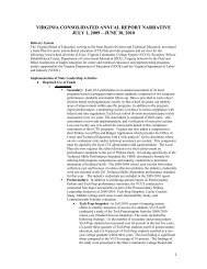 virginia consolidated annual report narrative - Perkins Collaborative ...