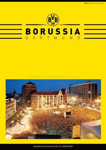 Halbjahresfinanzbericht 2008/2009 - BVB Aktie - Borussia Dortmund