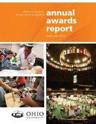 Fiscal Year 2012 Annual Awards Report - Ohio University