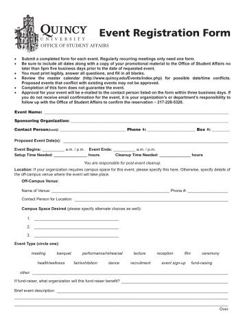 Background Check Release Form (239 Kb Pdf) - Quincy University