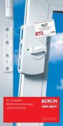 Prospekt Fenstersicherungen - Servus Sicherheitstechnik