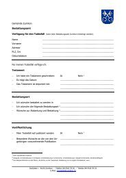 Verfügung für den Todesfall [PDF, 45.0 KB] - Gemeinde Zumikon