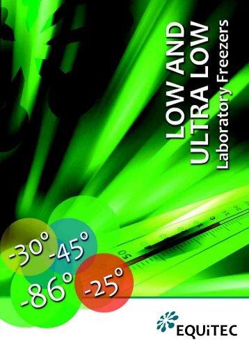 Complete laboratory freezers catalog