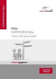 FAQ-NetEye-Warum für Open Source bezahlen? - Würth Phoenix