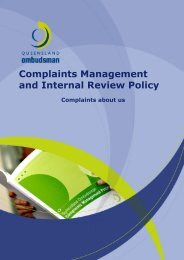 Complaints Management and Internal Review Policy - Queensland ...