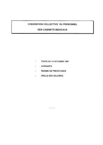 convention collective nationale personnel des cabinets medicaux ccmr