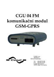 CGU 04 FM komunikační modul GSM-GPRS - Ok1mjo.com