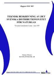teknisk beskrivning av det svenska distributionsnätet för ... - SGC