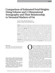 Comparison of Estimated Fetal Weights Using Volume and 2 ...