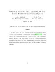 Temporary Migration, Skill Upgrading, and Legal Status: Evidence ...