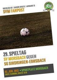 Fanpost 2013/12 SVM - SG Sindringen-Ernsbach