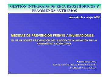 el plan sobre prevención del riesgo de - INBO