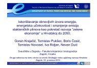 Iskorištavanje obnovljivih izvora energije, energetska učinkovitost i ...