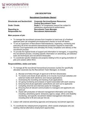 special projects coordinator description ontario