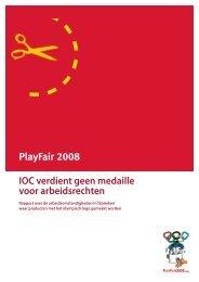 IOC verdient geen medaille voor arbeidsrechten - Play Fair 2008