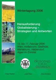 Mittwoch, 15. Februar 2006 - Ökosoziales Forum