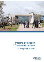 Informe de gestión 1 semestre de 2012 - Investor relations at Amadeus