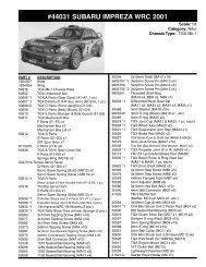 Data Sheet - Tamiya