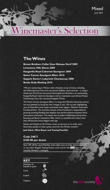 Winemaster's Selection June 2011 - Mixed - The Wine Society