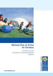 National Plan of Action for Germany - Bildung für nachhaltige ...