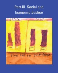 Part III. Social and Economic Justice - Earth Charter Initiative