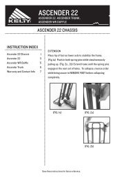 Kelty Ascender 22 Chassis Instructions