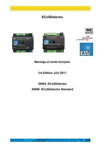 ECoSDetector - Train modelisme