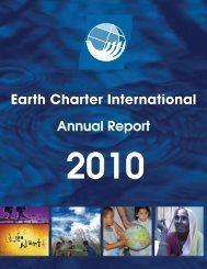 Annual Report 2010 - Earth Charter Initiative