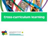 Cross-curriculum learning - Rachel Hawkes