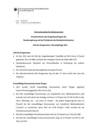 Kernaussagen Factsheet - Die Drogenbeauftragte der ...