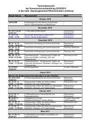 Terminübersicht der Kommunionvorbereitung 2010/2011 in der kath ...