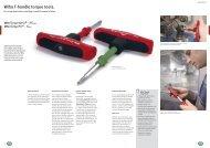 Wiha T-handle torque tools.