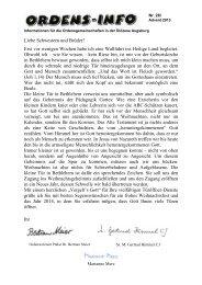 Ordensinfo Nr. 26 - Advent 2013g - Bistum Augsburg