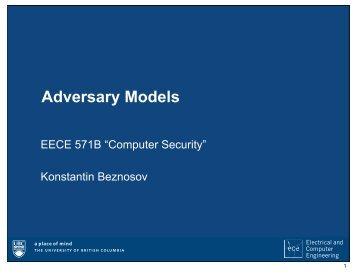 Adversary Models - UBC Blogs