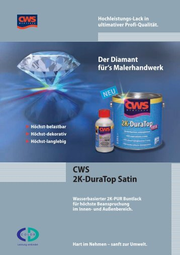 CWS 2K-DuraTop Satin - CD-Color GmbH & Co.KG