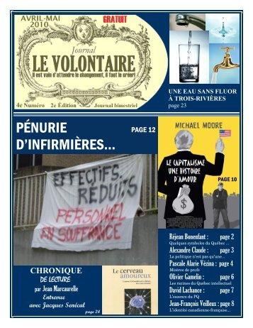 pénurie d'infirmières… - Société Saint-Jean-Baptiste de la Mauricie