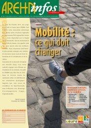 Mobilité : ce qui doit changer - Arehn