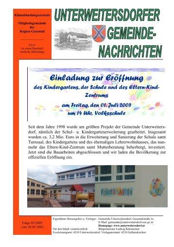 Ausgabe 2005/03 - Unterweitersdorf