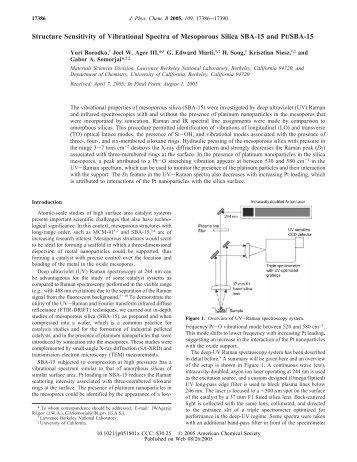 Structure Sensitivity of Vibrational Spectra of Mesoporous Silica SBA ...