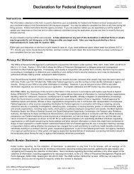 Declaration for Federal Employment - U.S. Public Health Service ...