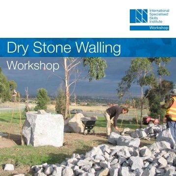 Dry Stone Walling - International Specialised Skills Institute