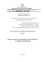 jelgavas novada teritorijas izmantošanas un apbūves noteikumi