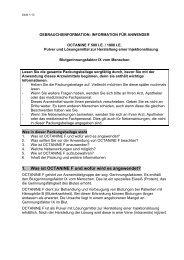 1. Was ist OCTANINE F und wofür wird es angewendet? - DIMDI