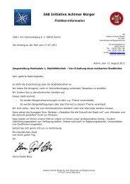 IAB Initiative Achimer Bürger Politiker-Information