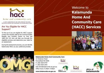 Kalamunda Home And Community Care (HACC) Services - Shire of ...