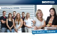 DH-Studium – Industrie - SCHMID Group