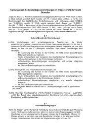 Satzung über die Kindertageseinrichtungen in ... - Ottweiler