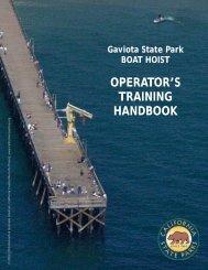 OPERATOR'S TRAINING HANDBOOK - California State Parks ...